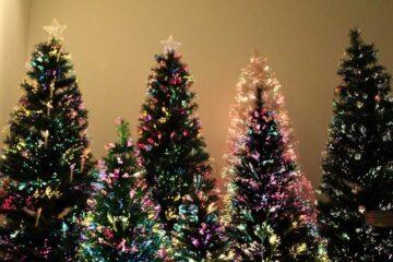 Fiber optical Christmas tree